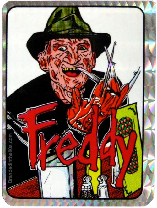Nightmare on elm street vending machine prism sticker