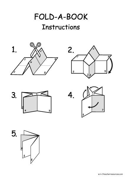 Printable and Editable Folding Book Template Projects to Try