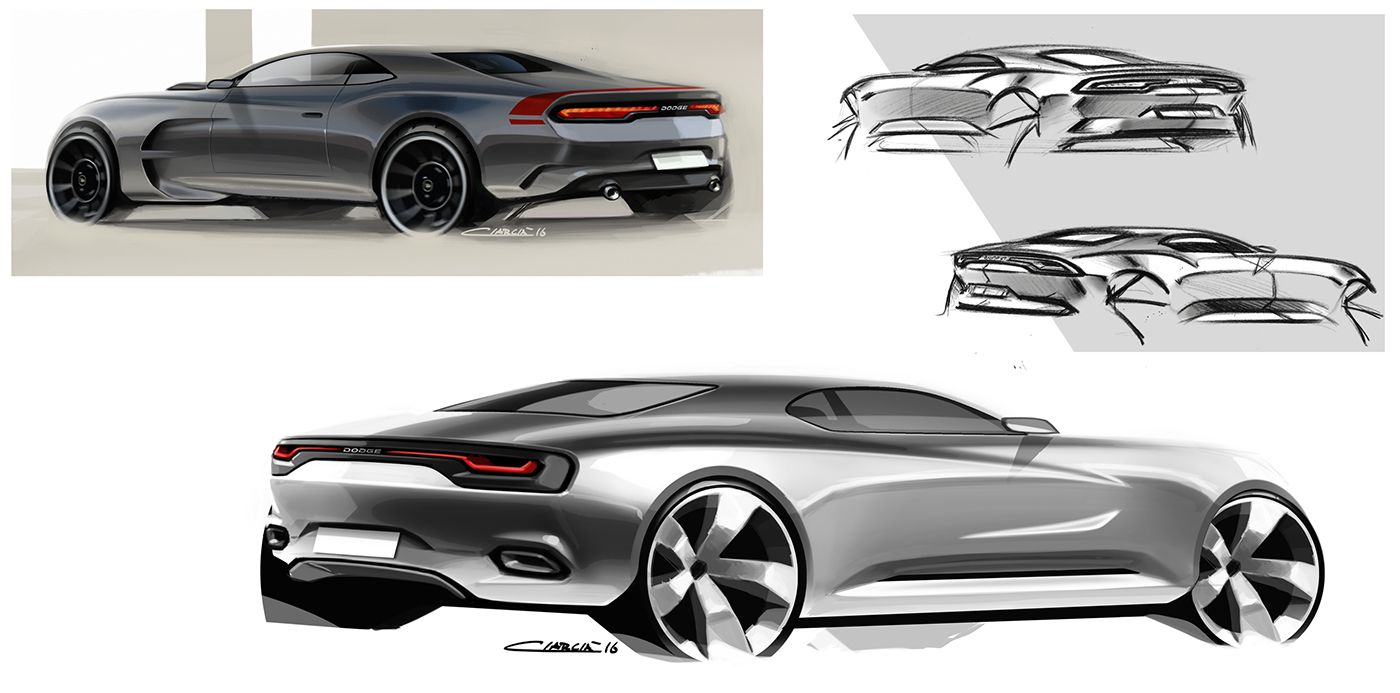 Challenger Muscle Cars Pt On Behance Transportation Sketches