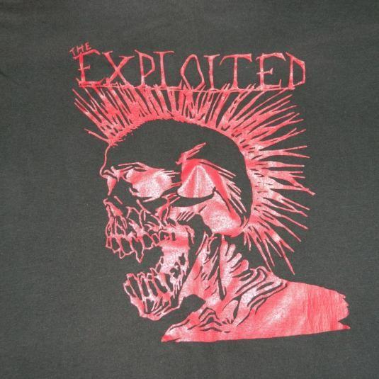 Vintage The Exploited 80s Original T Shirt Screen Stars Xl Original Tshirt Exploitation Vintage Tshirts