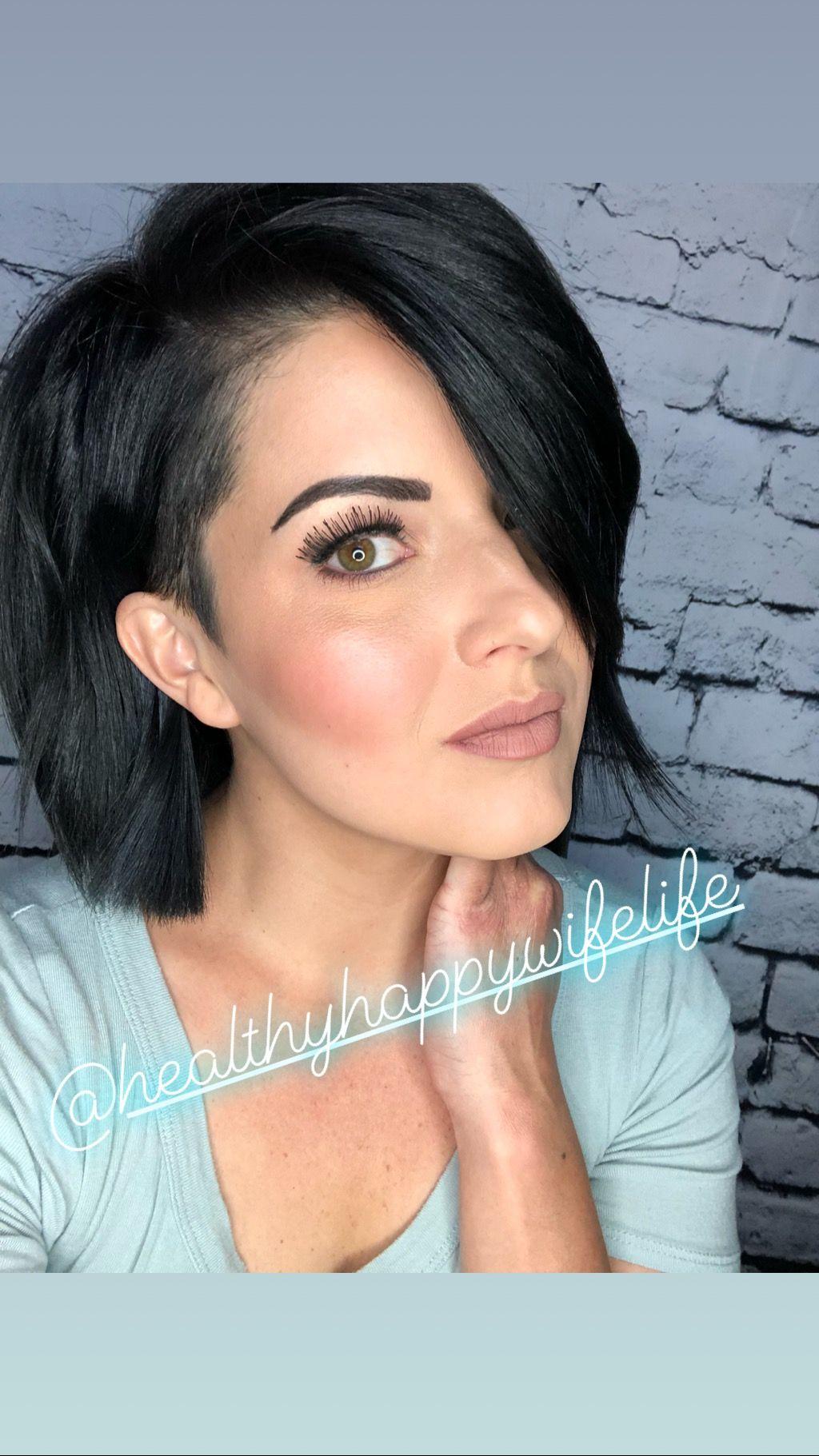 Highlight and contour illuminator maskcara undercut short hair