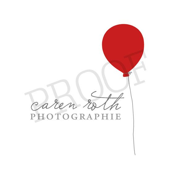 Red Balloon OOAK Premade Business Logo with by swoopandolivelogos, $28.00