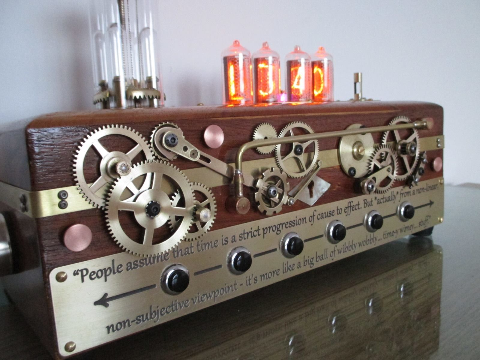 Nixie Tube Steampunk Clock
