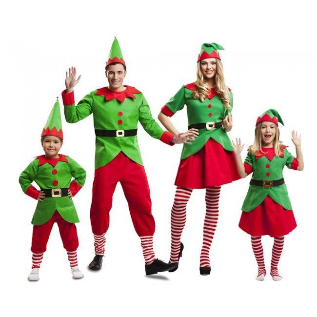 Grupo elfos navidad santa claus disfraces carnaval - Disfraces duendes navidenos ...