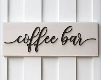Coffee Signs Kitchen Decor Coffee Sign  Coffee Bar  Coffee Sign Wood  Wood Coffee Sign
