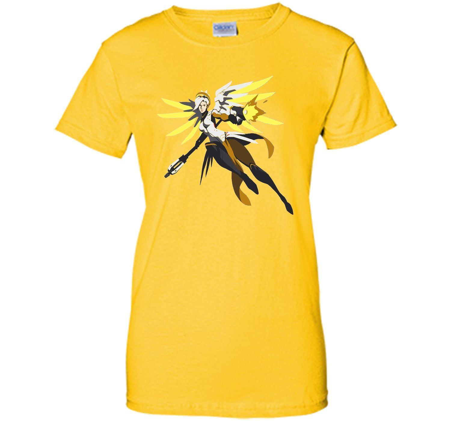 Overwatch Mercy Battle Ready Spray Tee Shirt
