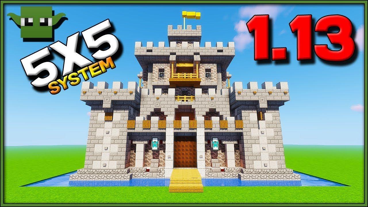 Minecraft 1 13 Castle Tutorial Easy 5x5 Building System