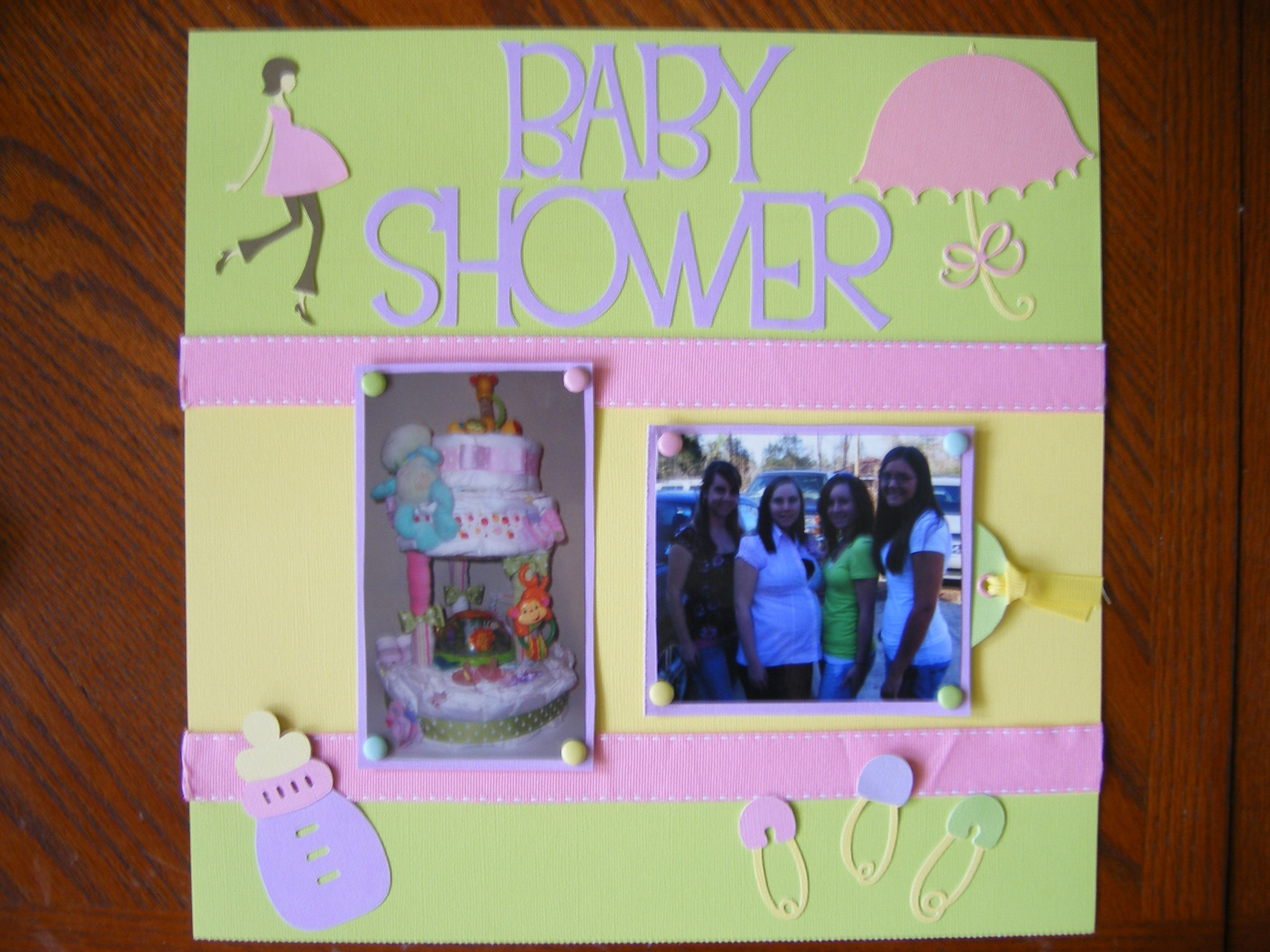 Wonderful Baby Shower Scrapbook Pages Part - 12: Baby Shower Scrapbook Layouts | Baby Shower