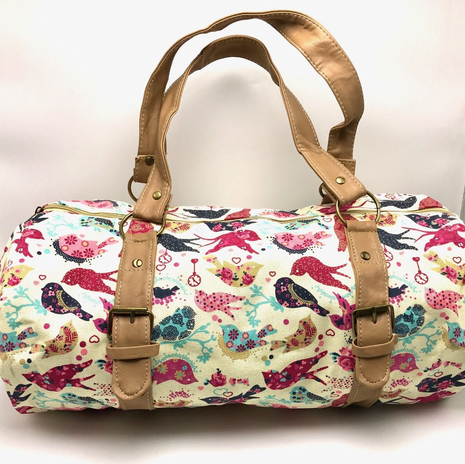 Check it out D'Luna Your So Tw... found at  http://keywebco.myshopify.com/products/dluna-your-so-tweet-duffle-bag-birds-canvas-art-tote-18x8in-home-school-gym-new?utm_campaign=social_autopilot&utm_source=pin&utm_medium=pin