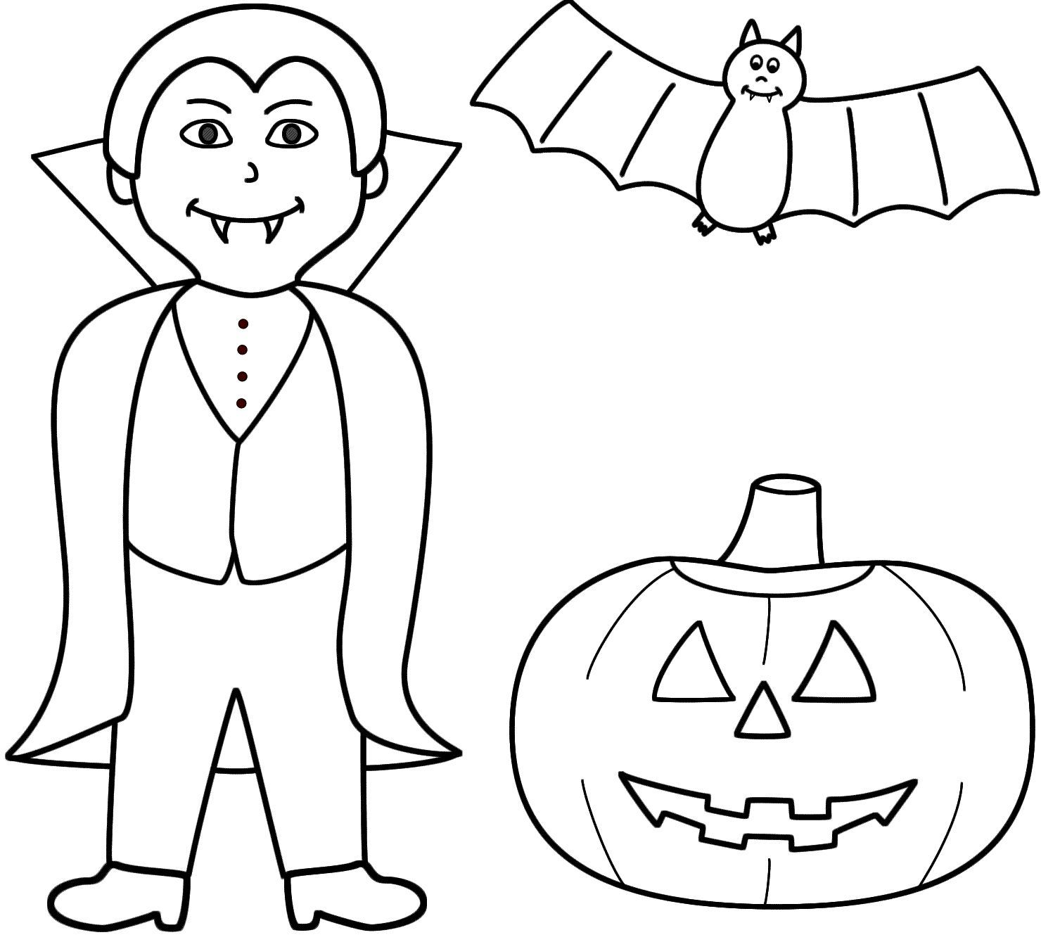 awesome Halloween Coloring Pages Of Bats, Nice Halloween