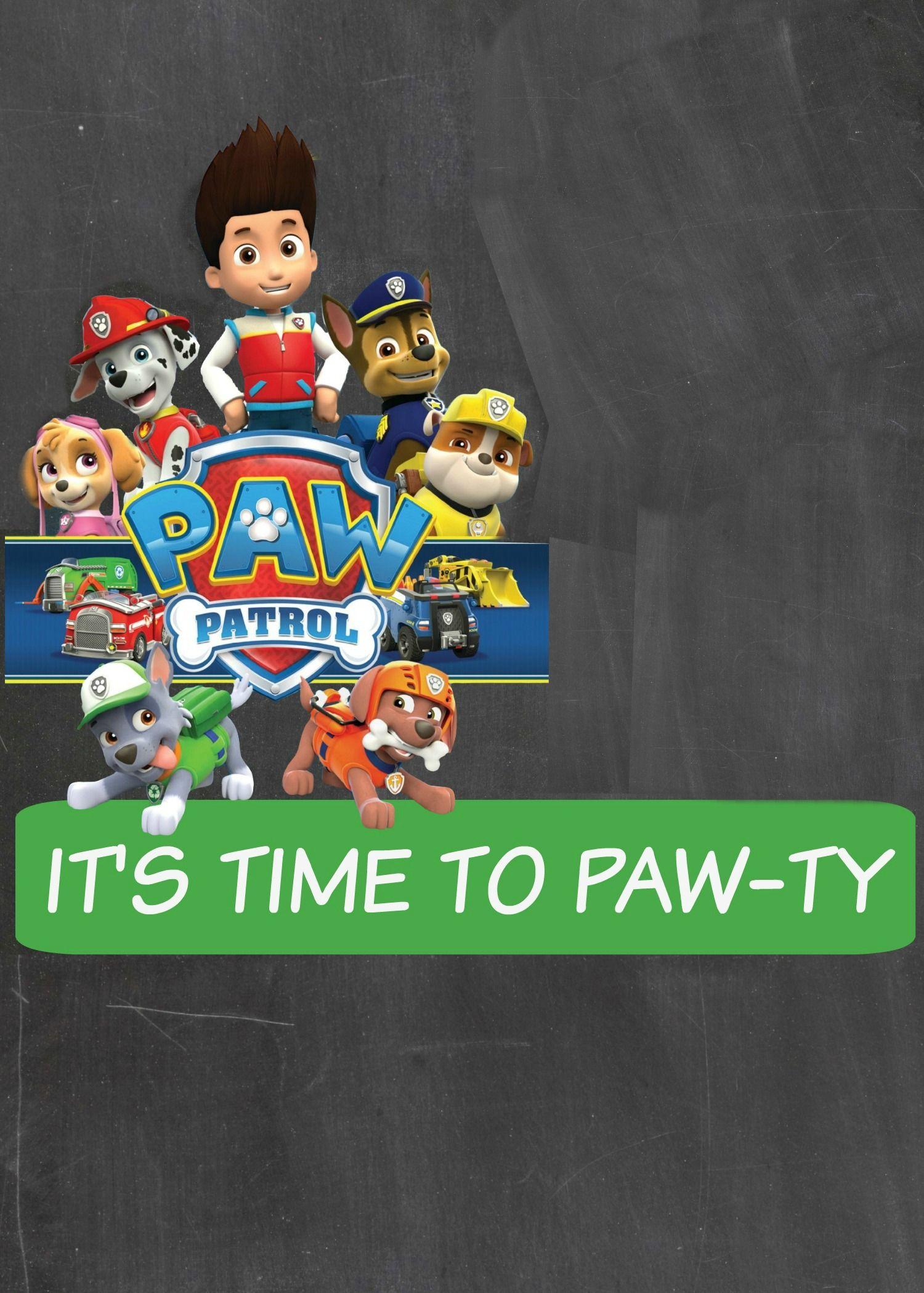 how to make a paw patrol digital