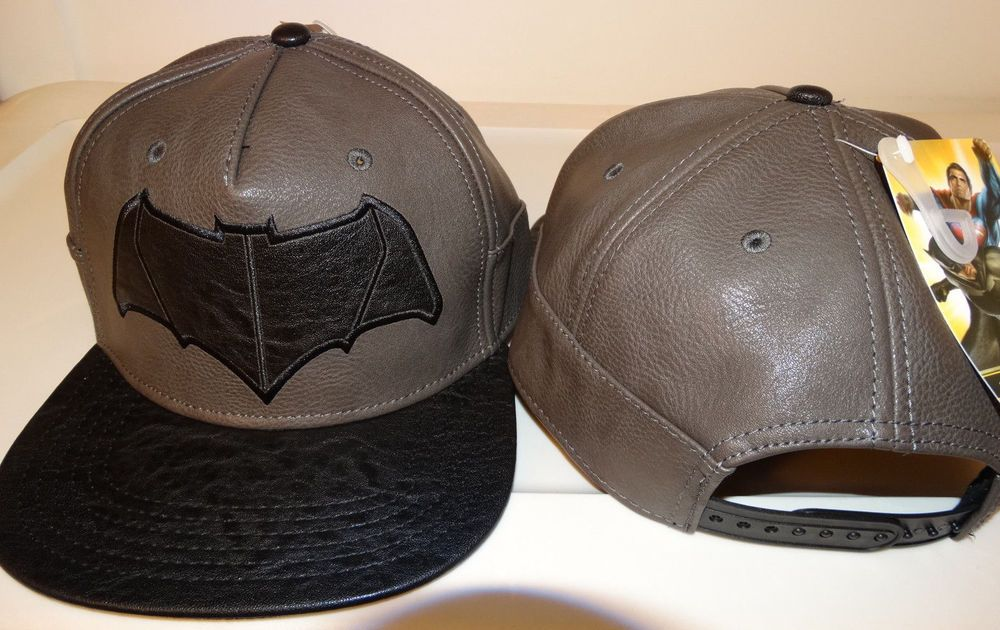 on sale 51083 ccb72 Batman Vs Superman Dawn Of Justice Faux Leather PU Snap Back Hat Nwt   BatmanVsSupermanDawnOfJustice  BaseballCap