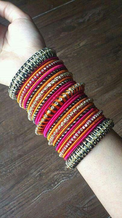 03523276357cc Nice colours bangles..... | Bangles.. in 2019 | Bangle bracelets ...