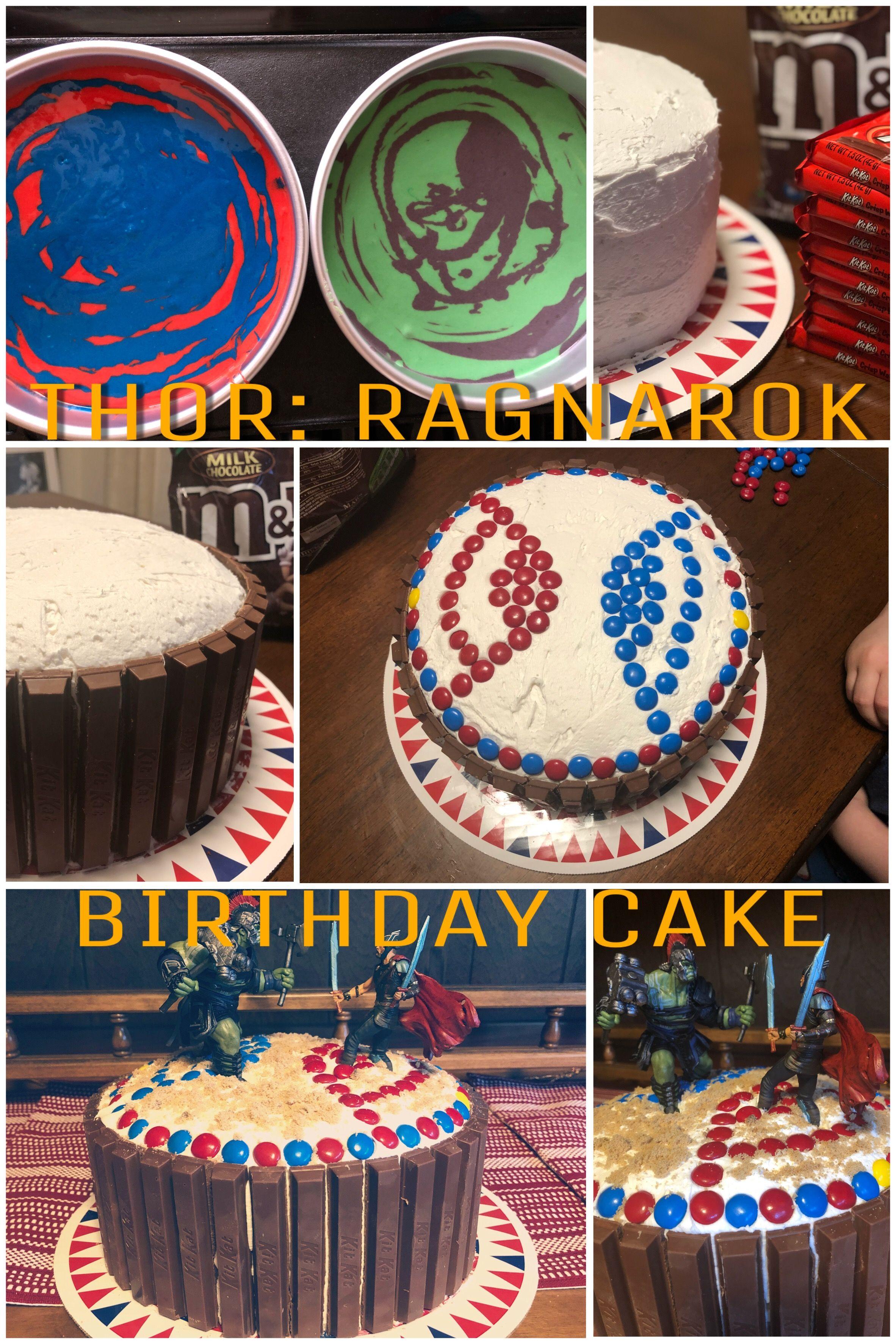 Thor Ragnarok Birthday Cake Duff Cake Mix I Found At My Local