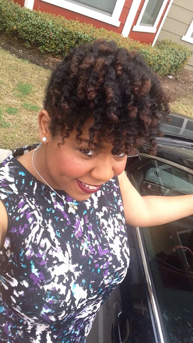 Natural Hair Flat Twist Up The Back Two Strand Twist In The Front