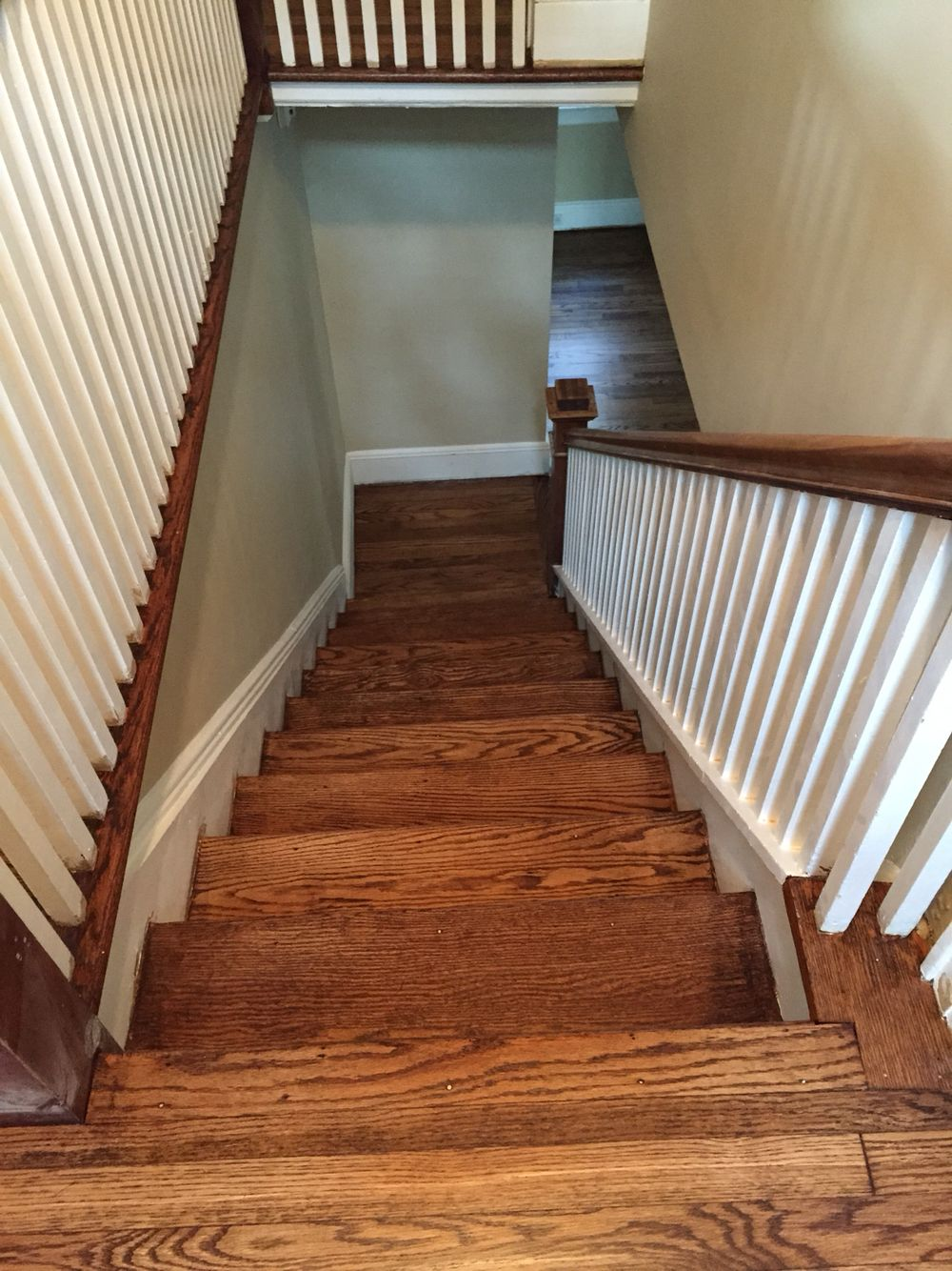 Wood by sanding the floors minwax floor finishes minwax floor finishes - Red Oak Minwax Provincial Stain After Gloss And Satin Finish Floor