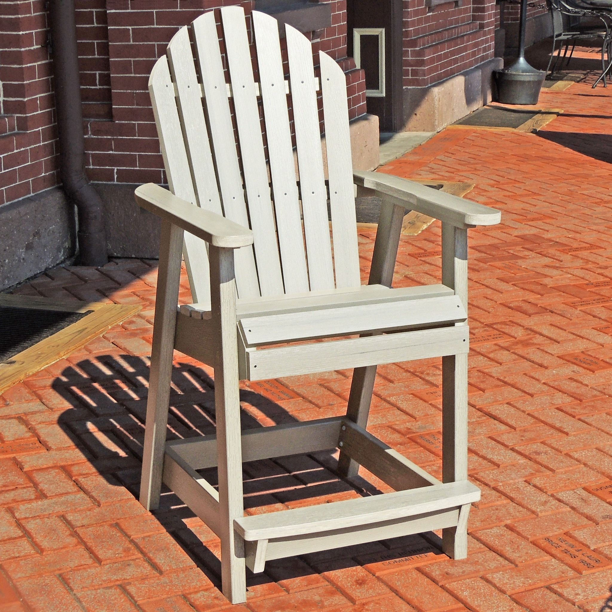 Highwood usa recycled plastic Hamilton Counter Height Deck Chair