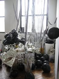 black and silver birthday party decorations google search black rh pinterest com