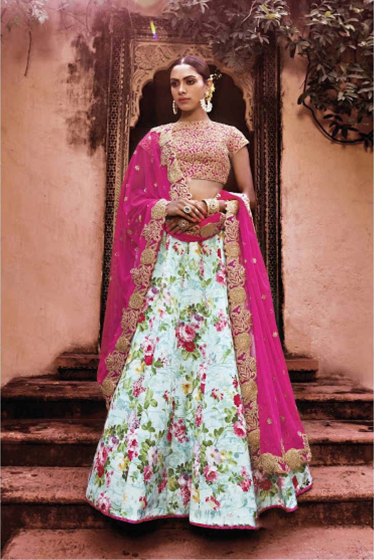 8fbd03aa4b7dc Sky Blue and Pink Colour Art Silk Fabric Designer A Line Lehenga Choli  Comes With Matching Blouse and Dupatta. This Lehenga Choli Is Crafted With  Embroidery ...