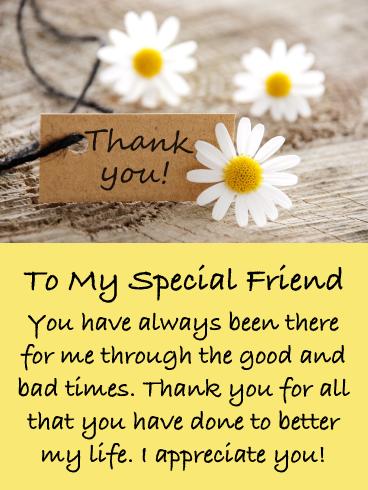 Dear Friend Thank You Notecards