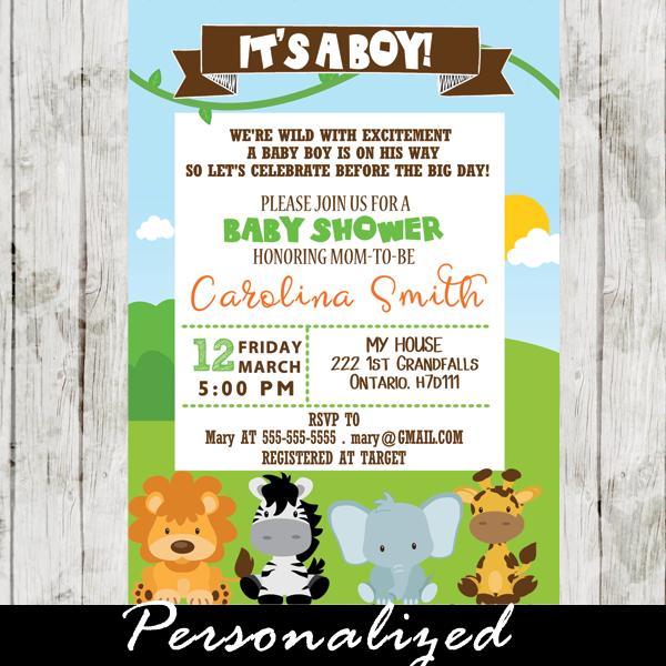 Safari Invitations For Baby Shower Safari Baby Shower Invitations Modern Baby Shower Invitations Baby Shower Invitations Safari Theme