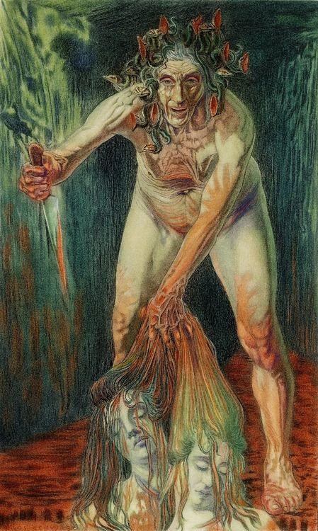 Carlos Schwabe - Le Tonneau de la Haine - Fleurs du Mal (1900)