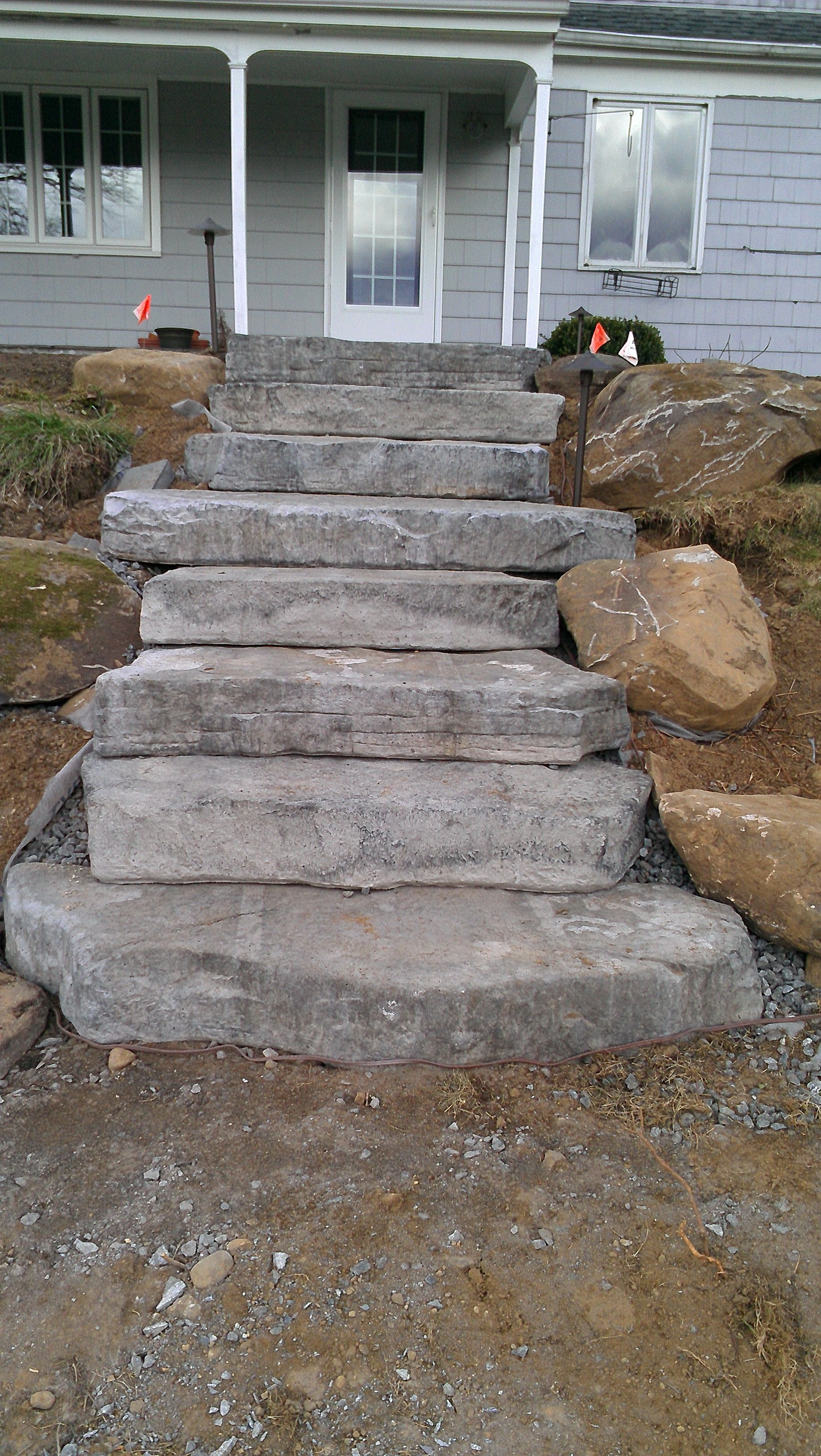 Best Concrete Steps Made To Look Natural Садовая Лестница 400 x 300