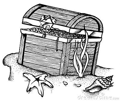 Underwater Treasure Chest 5193740 Jpg 400 335 Under The Sea Drawings Ocean Quilt Underwater Drawing