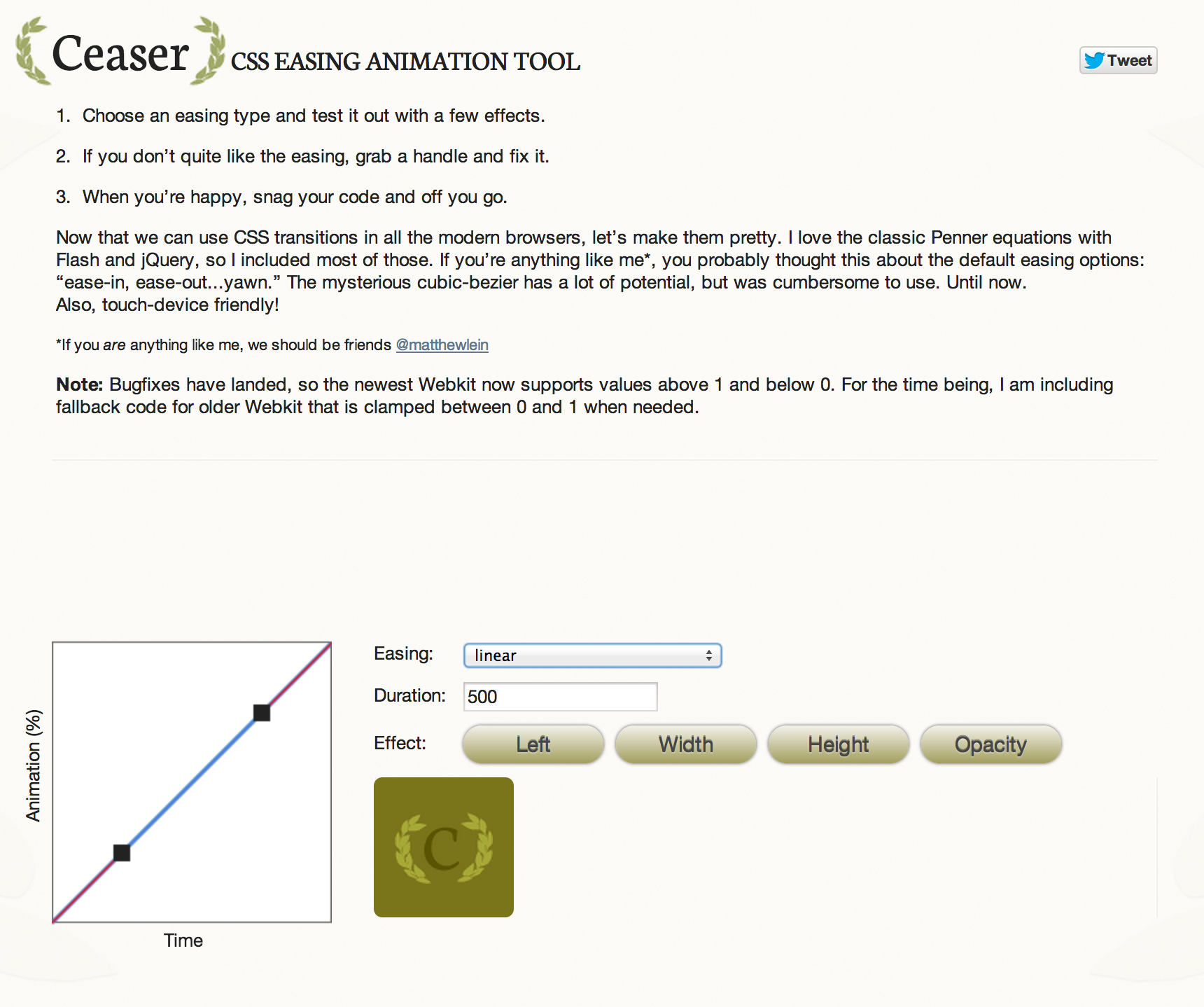 CSS EASING ANIMATION TOOL Animation tools, Css animation