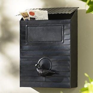 Aviary Mailbox By Pottery Barn This Mailbox Has A Fun Vintage