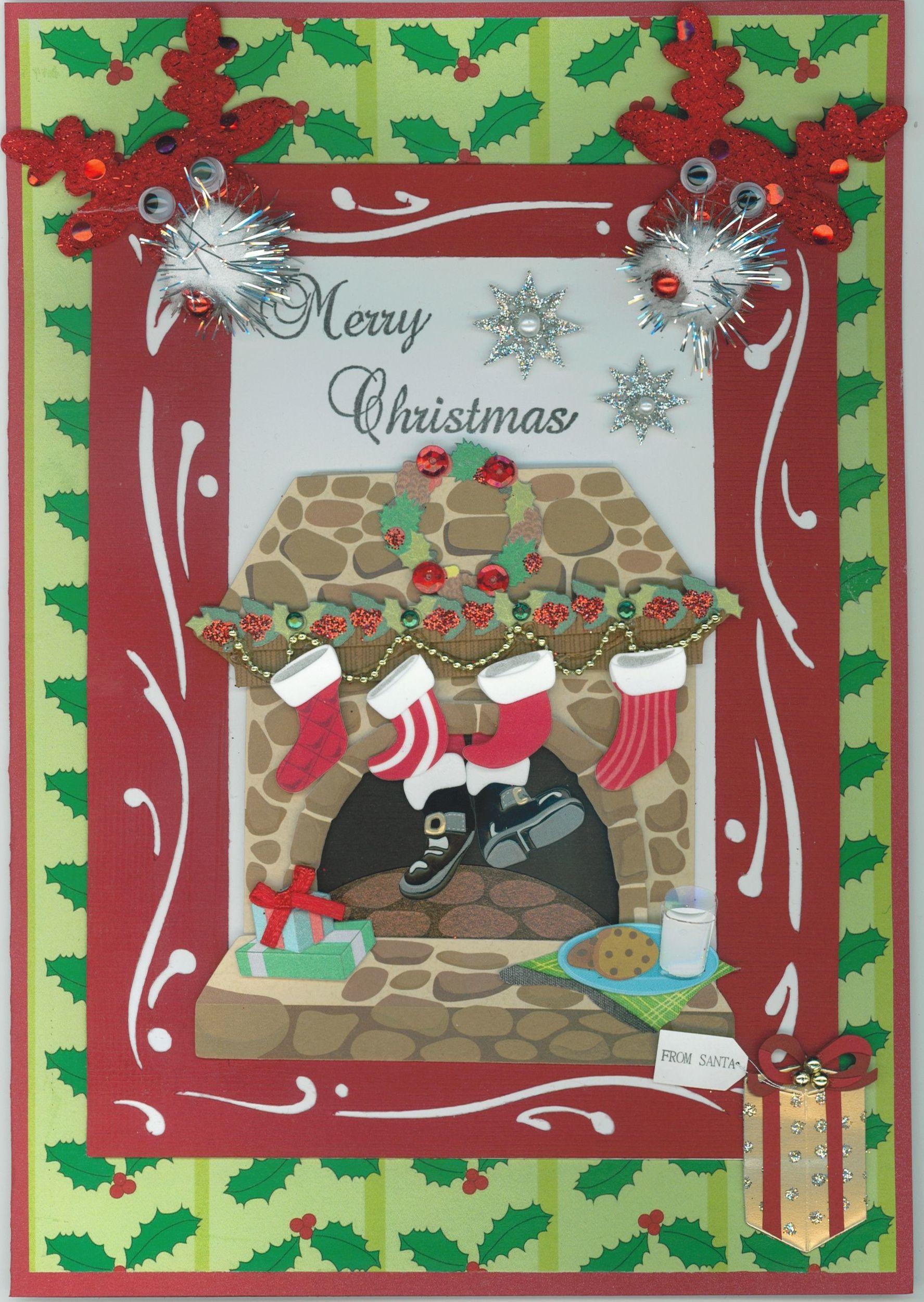 Christmas Card 2012; Jolee's stickers; Cricut elements