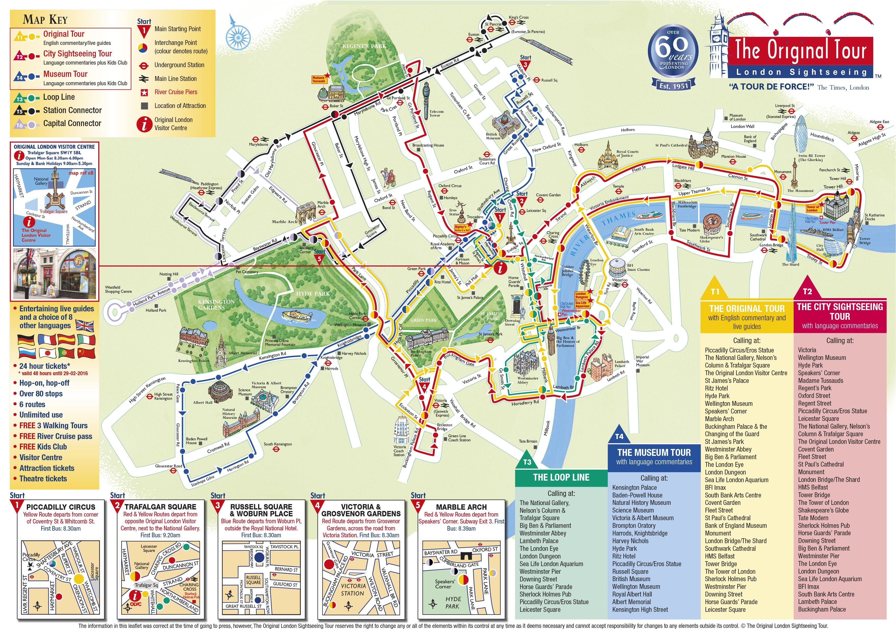 London In A Day Map.A Tour Map Of One Of The Bus Tours In London It Costs 26 For A Two