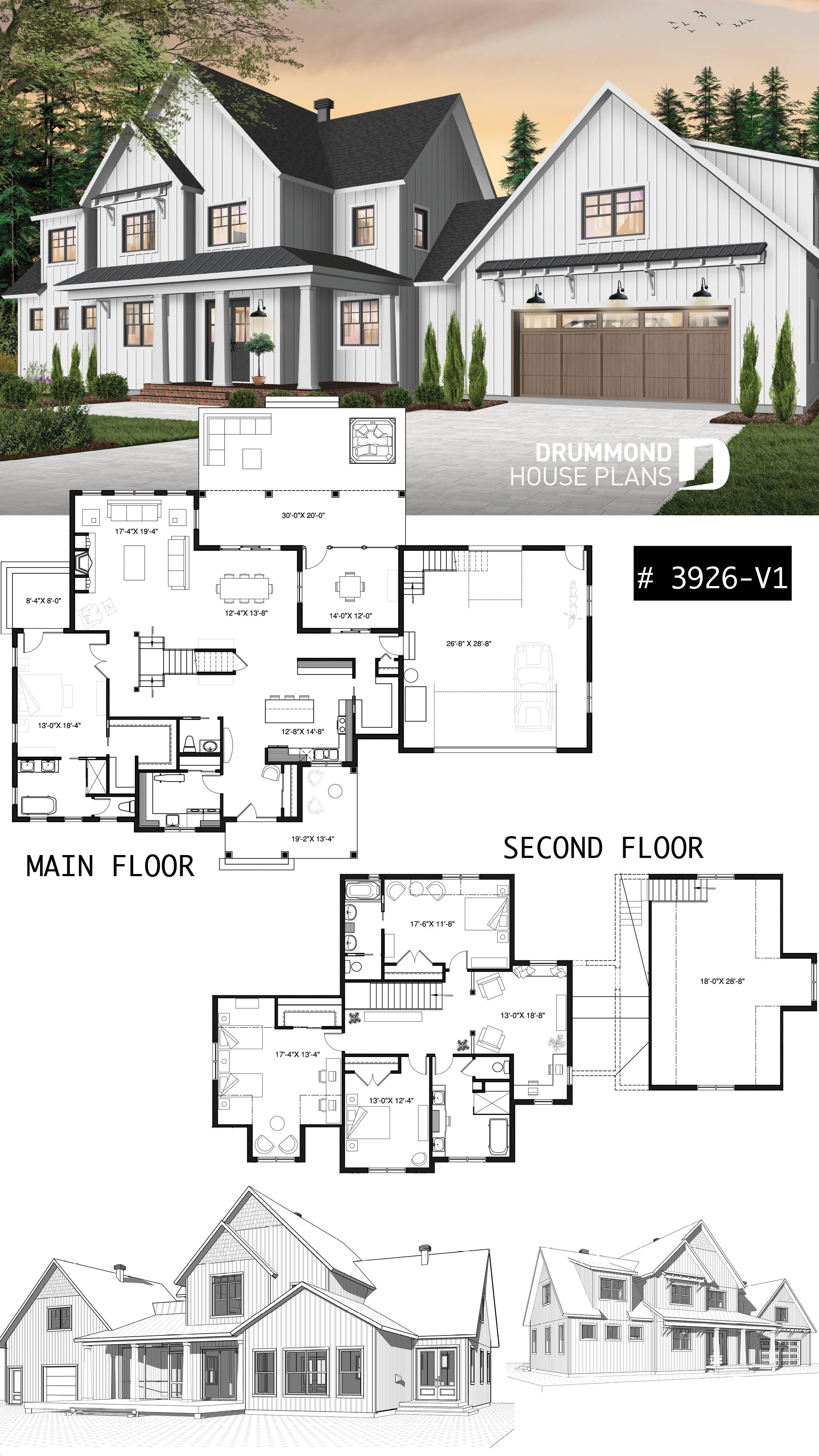 Discover The Plan 3926 Midwest Which Will Please You For Its 4 Bedrooms And For Its Country Styles Sims House Design House Blueprints House Plans