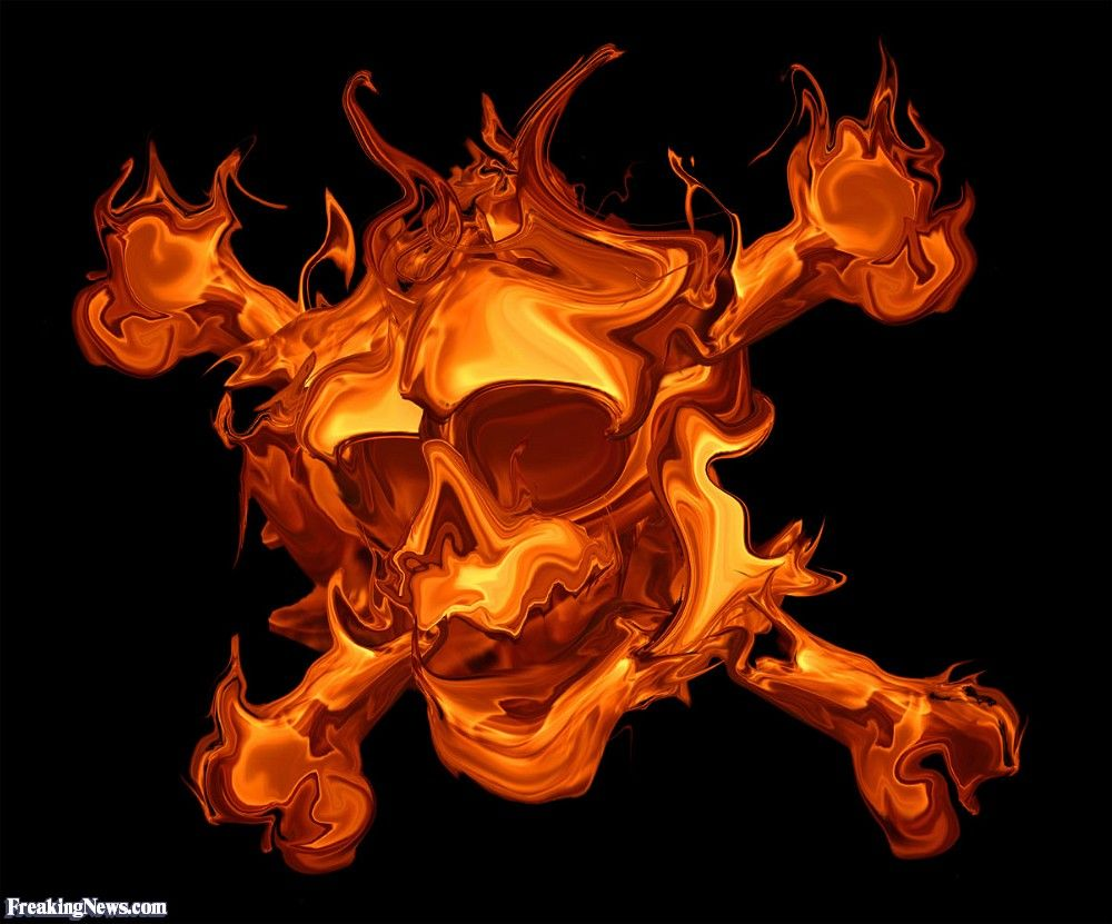 on fire clip art | Fire Cross Bones | Skull wallpaper ...