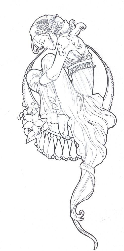 Art Nouveau By Tarorae Coisas Para Desenhar Producao De Arte