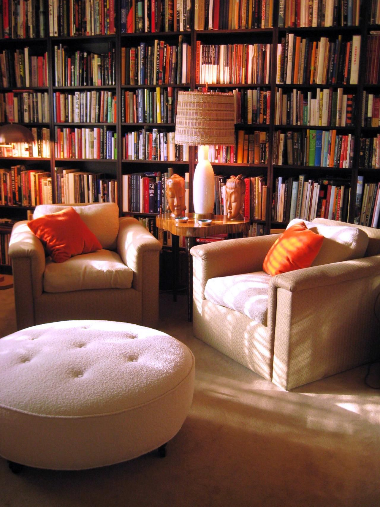 Home Design Ideas Book: Overstuffed Chairs, Library