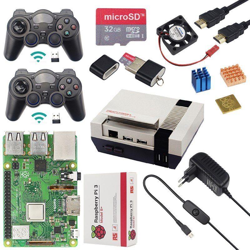 Original Raspberry Pi 3 Model B Plus + Case + Cpu Fan + 32G Sd Card