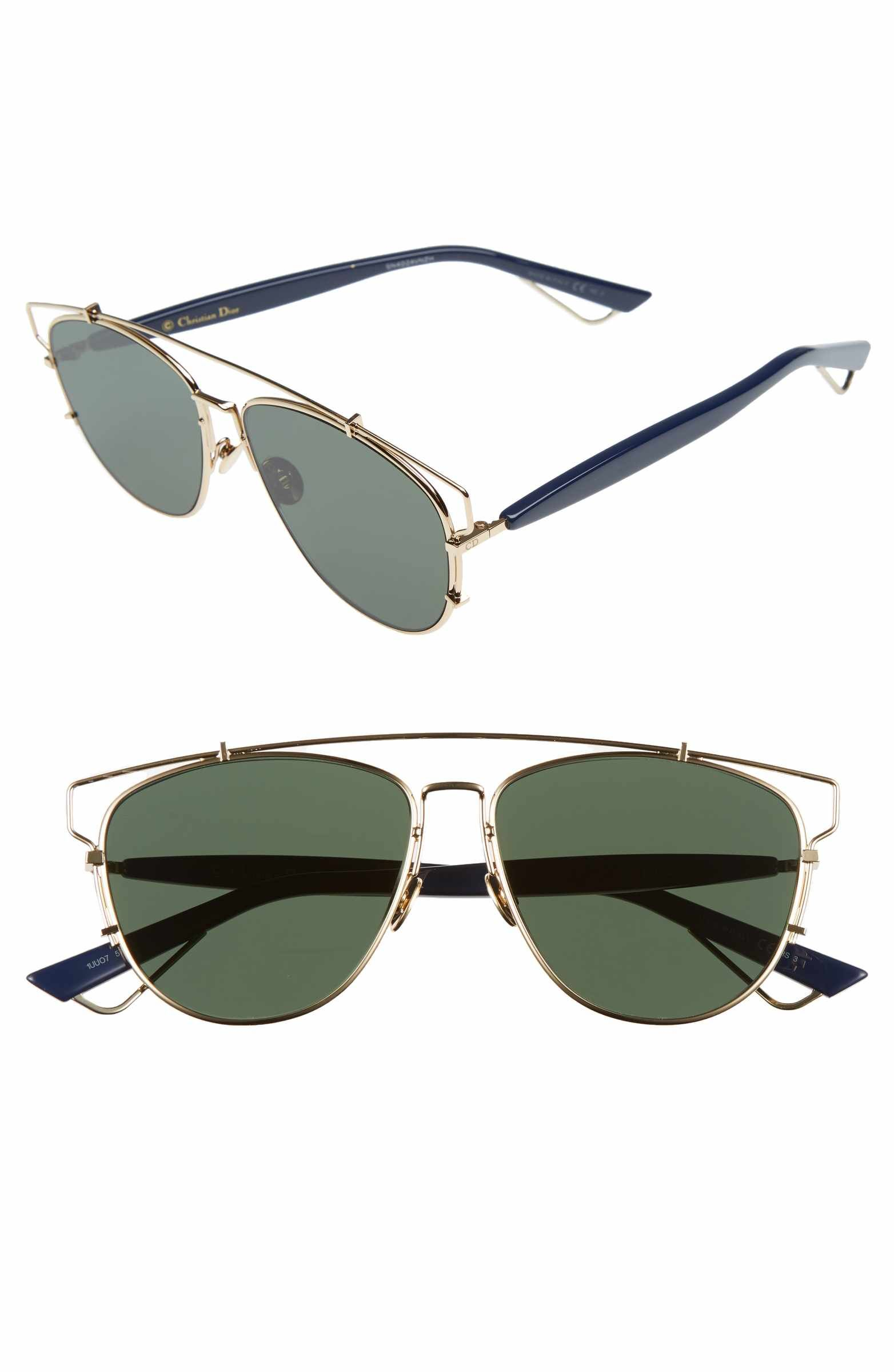 67a34c50b6 Main Image - Dior Technologic 57mm Brow Bar Sunglasses