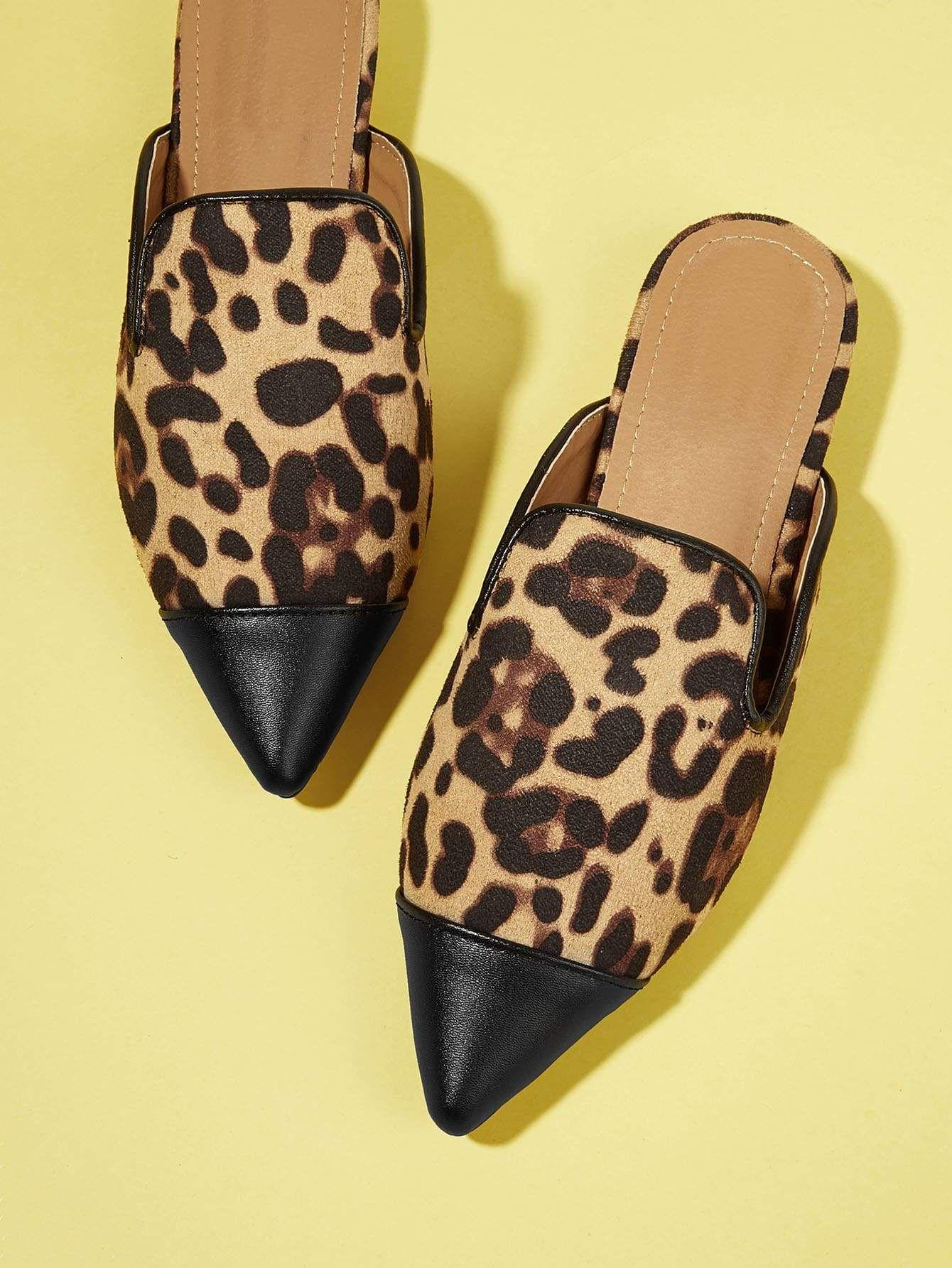 b3396854cae0 Leopard Print Mule Flats | Things to Wear | Leopard flats, Mules ...
