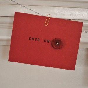 let's un-button --- sexy Valentine's handmade card