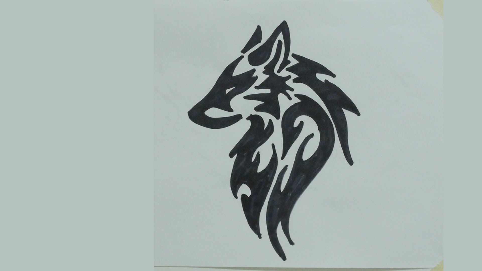Tribal Wolf Face How To Draw Wolf Head Tribal Tattoo 2 Youtube Tribal Drawings Wolf Face Drawing Tattoo Design Drawings