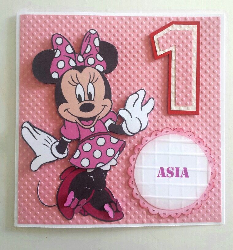 Minnie Mouse Birthday Card Cards Pinterest Minnie Mouse Mice