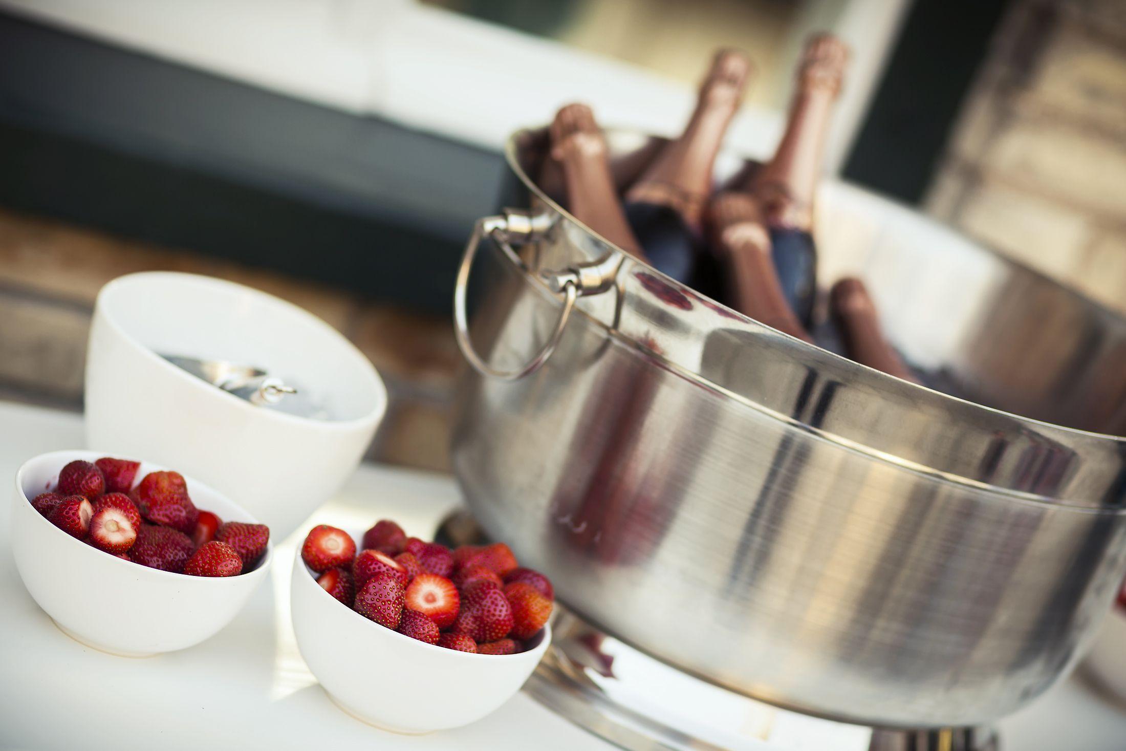 Bulles et fraises, rafraîchissant!