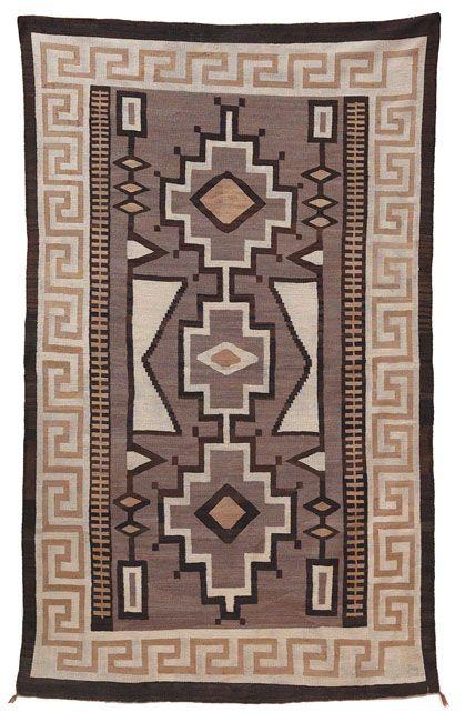 Navajo Rug C 1915 Geometric Design