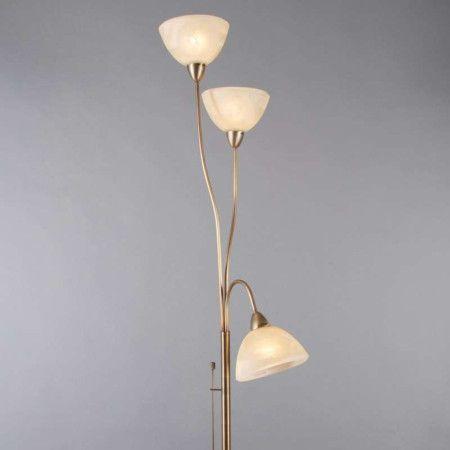 Stehleuchte Diva 2 Bronze #innenbeleuchtung #deckenfluter - wohnung mit deckenfluter einrichtern modern