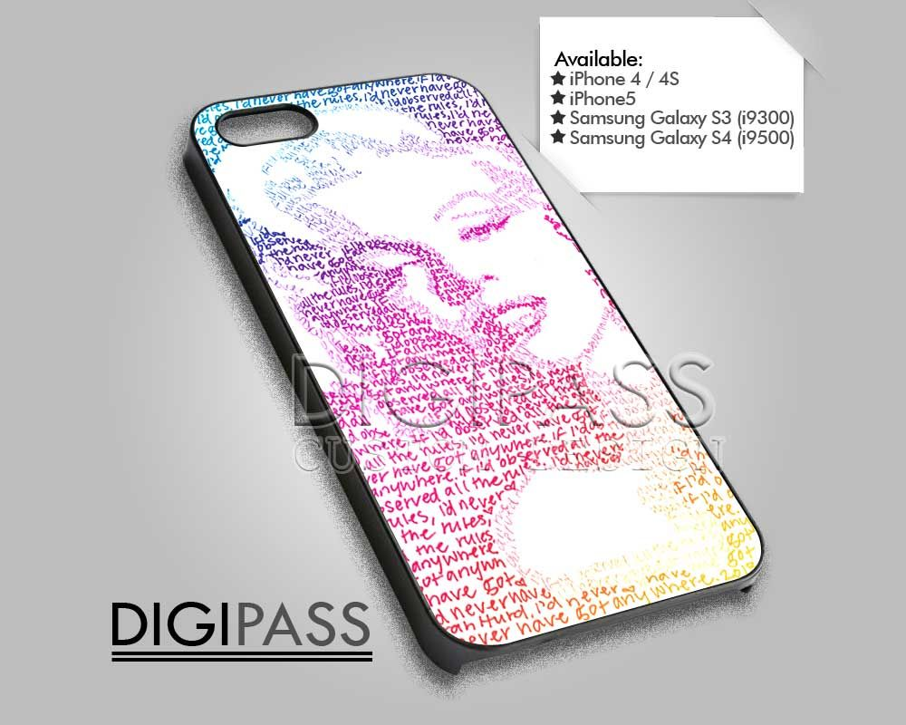 Marylin Monroe Typography quote for iPhone 4/4S/5 iPod 4/5 Galaxy S2/S3/S4 |DigiPass on Luulla