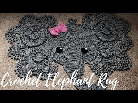 Homemade Crochet Elephant Rug with Bow: A Glimpse Into How I Made It ...