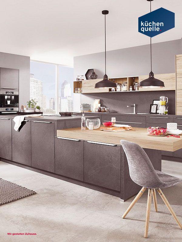 Nicht nur für Design-Liebhaber die Norina 4566/2371 Grauschiefer - www küchen quelle de