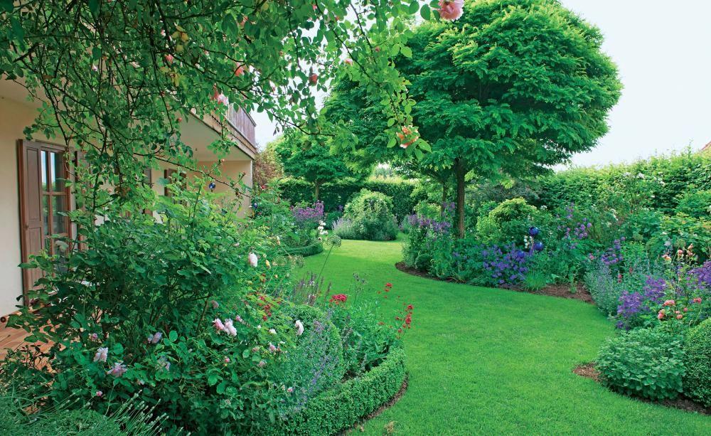 gestaltungsideen grundstücksgrenze gestaltungsideen mit rasen | gardening - landscaping