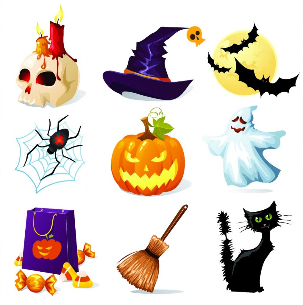 mega pack of great halloween vectors free vector illustrations rh pinterest com halloween vector images halloween vector art free